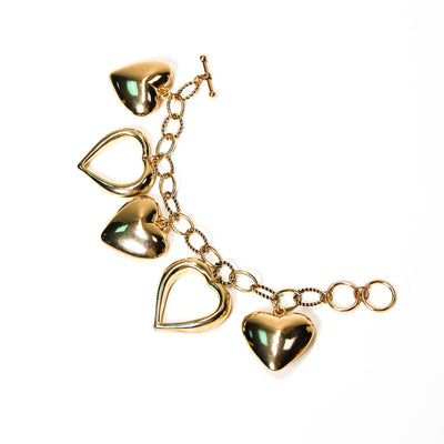 Lots of Love Heart Charm Bracelet by Unsigned Beauty - Vintage Meet Modern Vintage Jewelry - Chicago, Illinois - #oldhollywoodglamour #vintagemeetmodern #designervintage #jewelrybox #antiquejewelry #vintagejewelry