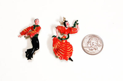 1940's Flamenco Dancer Pins by Coro, Brooches - Vintage Meet Modern