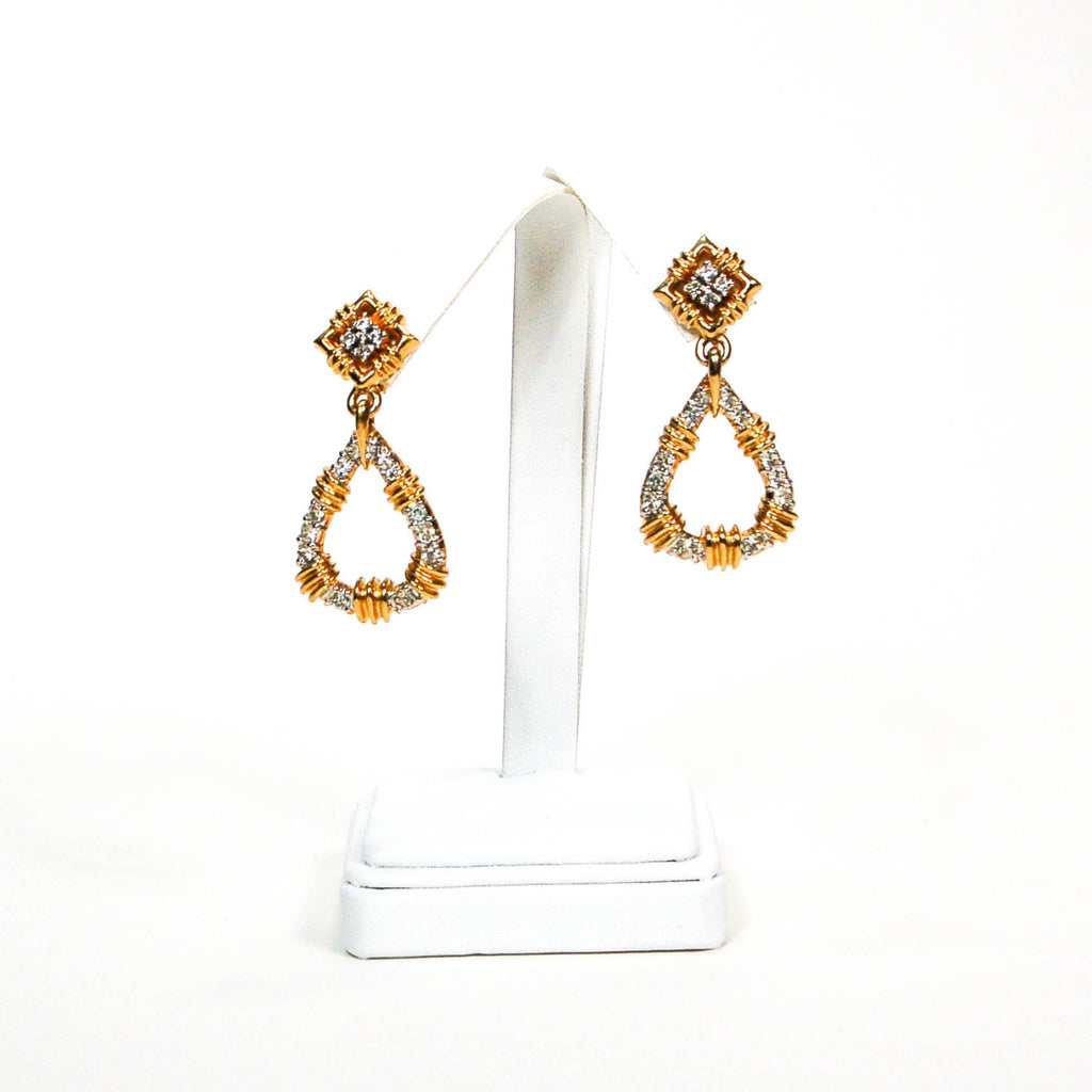 Door Knocker Style Rhinestone Earrings by Panetta - Vintage Meet Modern  - 4