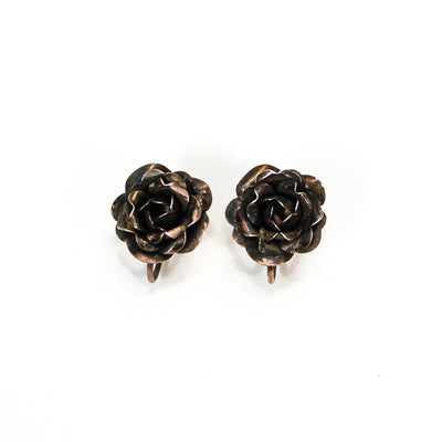1930's Sterling Silver Rose Earrings by 1930's - Vintage Meet Modern - Chicago, Illinois