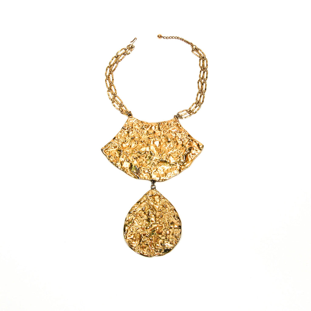 1970's Molten Gold Statement Necklace by Eugene Bertolli for Napier, Necklaces - Vintage Meet Modern