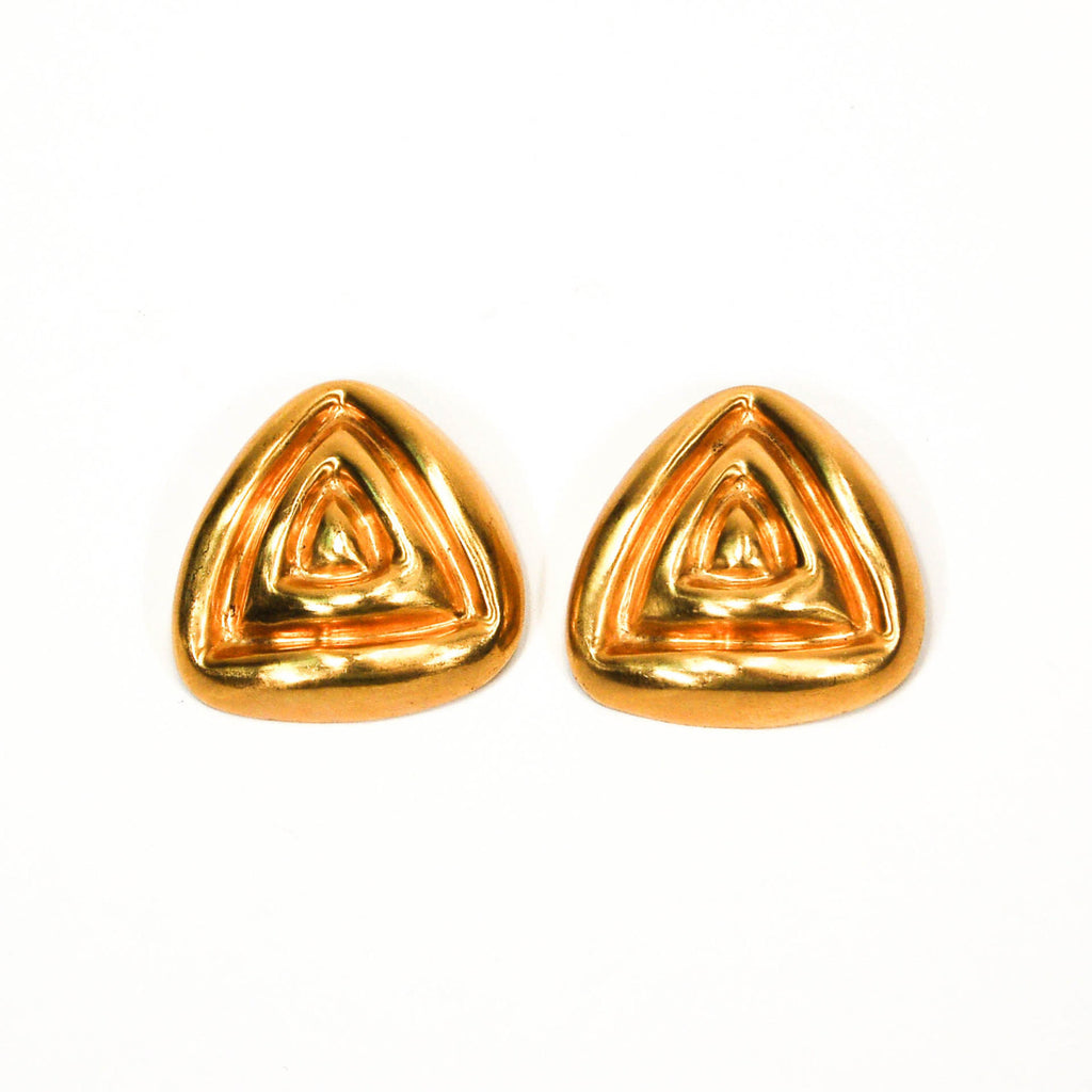 1980's Oversized Mod Triangle Earrings by Steven Vauble, Earrings - Vintage Meet Modern