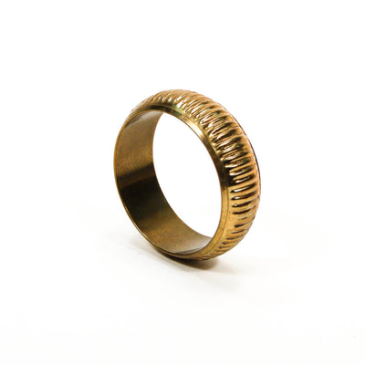 1970's Ribbed Brass Bangle by 1970's - Vintage Meet Modern - Chicago, Illinois