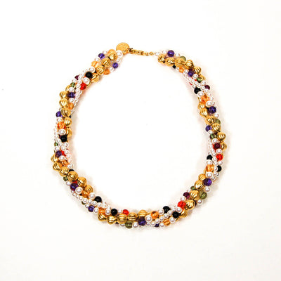 Colorful Beaded Necklace by Anne Klein, Necklaces - Vintage Meet Modern
