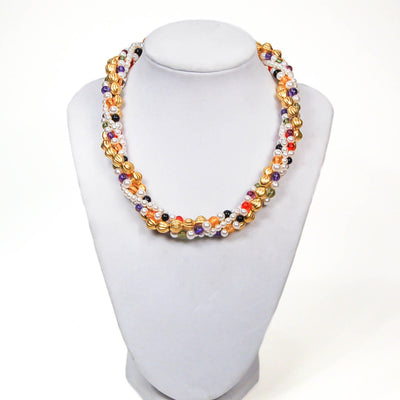 Colorful Beaded Necklace by Anne Klein by Anne Klein Couture - Vintage Meet Modern Vintage Jewelry - Chicago, Illinois - #oldhollywoodglamour #vintagemeetmodern #designervintage #jewelrybox #antiquejewelry #vintagejewelry