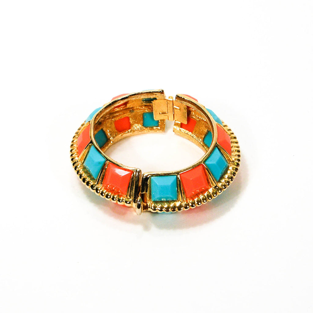 Coral and Turquoise Statement Bracelet by KJL - Vintage Meet Modern  - 2