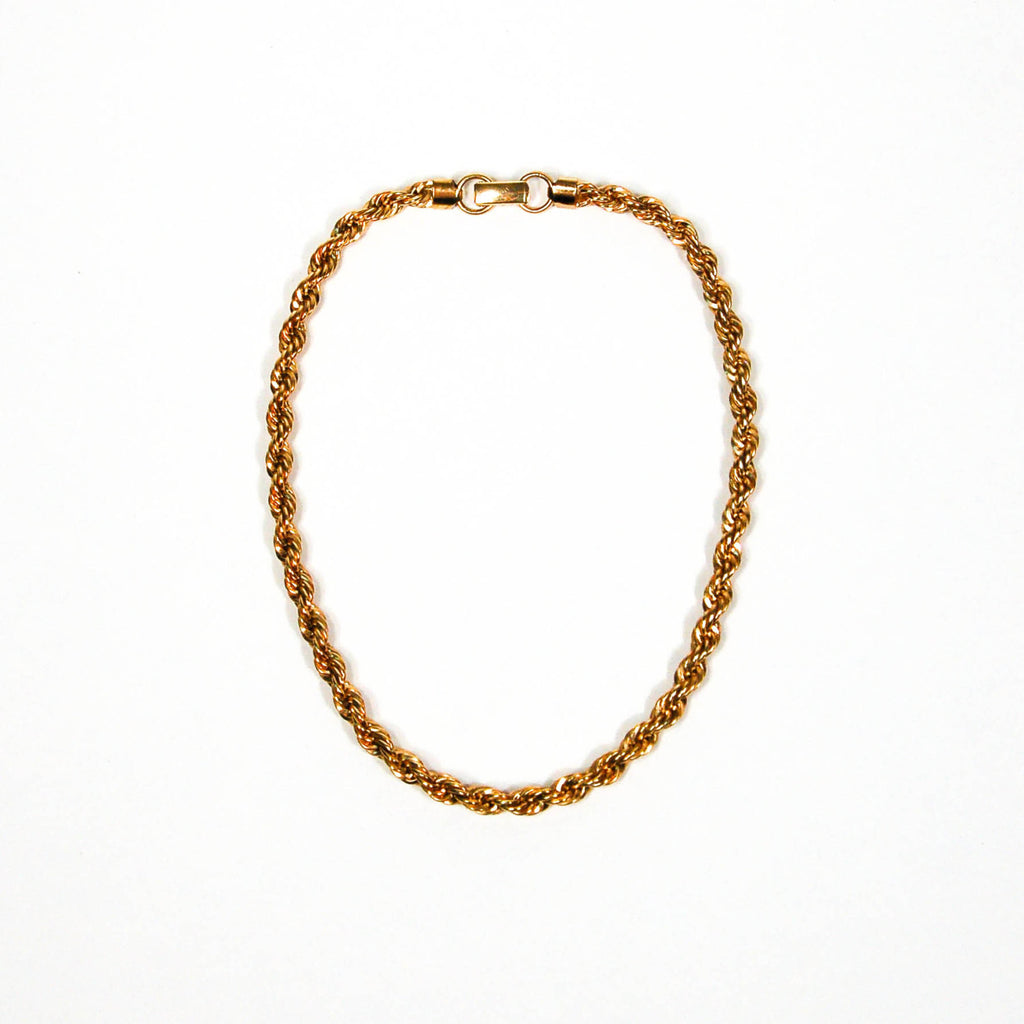 Gold Tone Choker Rope Chain Necklace by Napier - Vintage Meet Modern  - 1