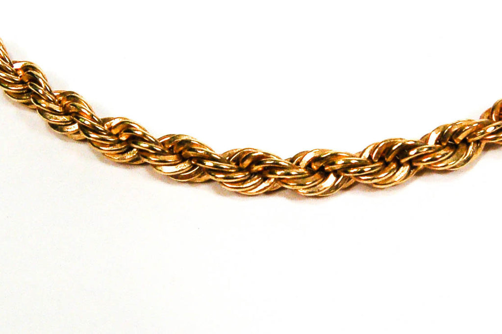 Gold Tone Choker Rope Chain Necklace by Napier - Vintage Meet Modern  - 2