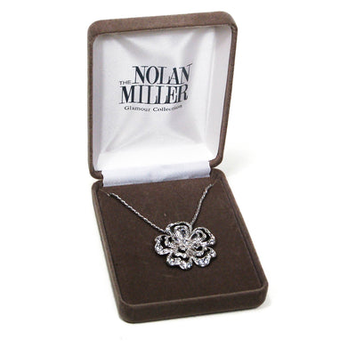 Sparkling Cubic Zirconia Flower Pendant Necklace by Nolan Miller by vintagemeetmodern - Vintage Meet Modern - Chicago, Illinois