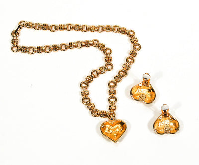 Rhinestone Heart Charm Necklace by Swarovski by Swarovski - Vintage Meet Modern - Chicago, Illinois
