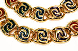 Bold Gold and Jewel Tone Statement Necklace and Bracelet Set - Vintage Meet Modern  - 3