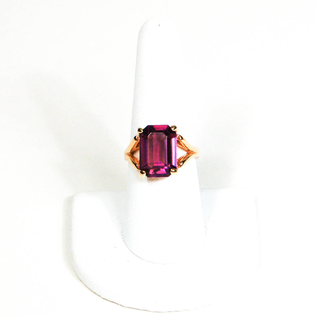 Purple Rhinestone Cocktail Statement Ring - Vintage Meet Modern  - 2