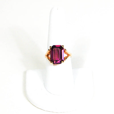 Purple Rhinestone Cocktail Statement Ring by 1980s - Vintage Meet Modern Vintage Jewelry - Chicago, Illinois - #oldhollywoodglamour #vintagemeetmodern #designervintage #jewelrybox #antiquejewelry #vintagejewelry