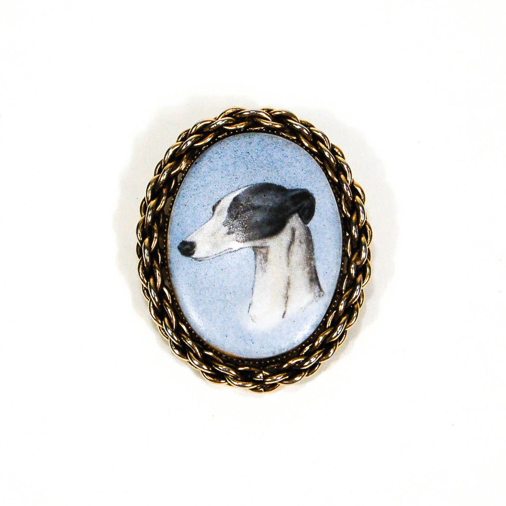 Whippet Dog Portait Brooch and Pendant, Brooches - Vintage Meet Modern