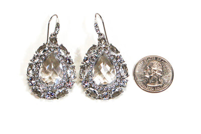 Crystal Rhinestone Statement Earrings by Monet by Monet - Vintage Meet Modern Vintage Jewelry - Chicago, Illinois - #oldhollywoodglamour #vintagemeetmodern #designervintage #jewelrybox #antiquejewelry #vintagejewelry