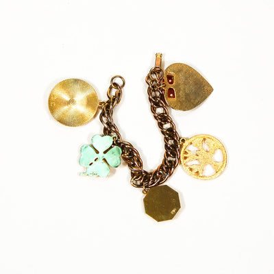 1950's Gold Tone Chunky Charm Bracelet by 1950's - Vintage Meet Modern - Chicago, Illinois