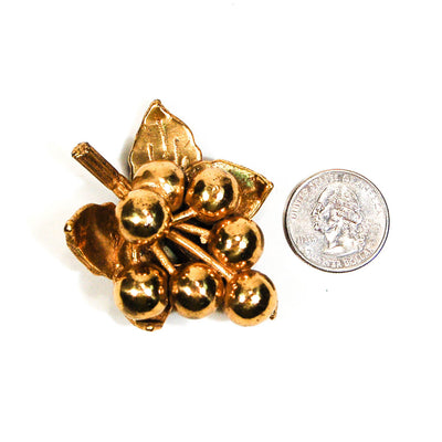 Berry Cluster, Gold Dress Clip Fur Clip, Brooch - Vintage Meet Modern