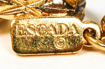 Jewel Tone Charm Statement Necklace by Escada by Escada - Vintage Meet Modern - Chicago, Illinois