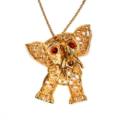 Juliana Elephant Pendant Statement Necklace, Necklaces - Vintage Meet Modern