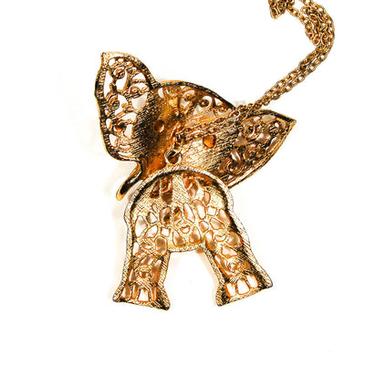 Juliana Elephant Pendant Statement Necklace by Juliana D & E - Vintage Meet Modern Vintage Jewelry - Chicago, Illinois - #oldhollywoodglamour #vintagemeetmodern #designervintage #jewelrybox #antiquejewelry #vintagejewelry
