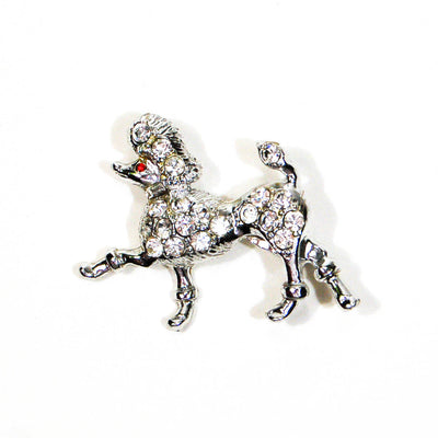 Rhinestone Poodle Brooch by Unsigned Beauty - Vintage Meet Modern Vintage Jewelry - Chicago, Illinois - #oldhollywoodglamour #vintagemeetmodern #designervintage #jewelrybox #antiquejewelry #vintagejewelry