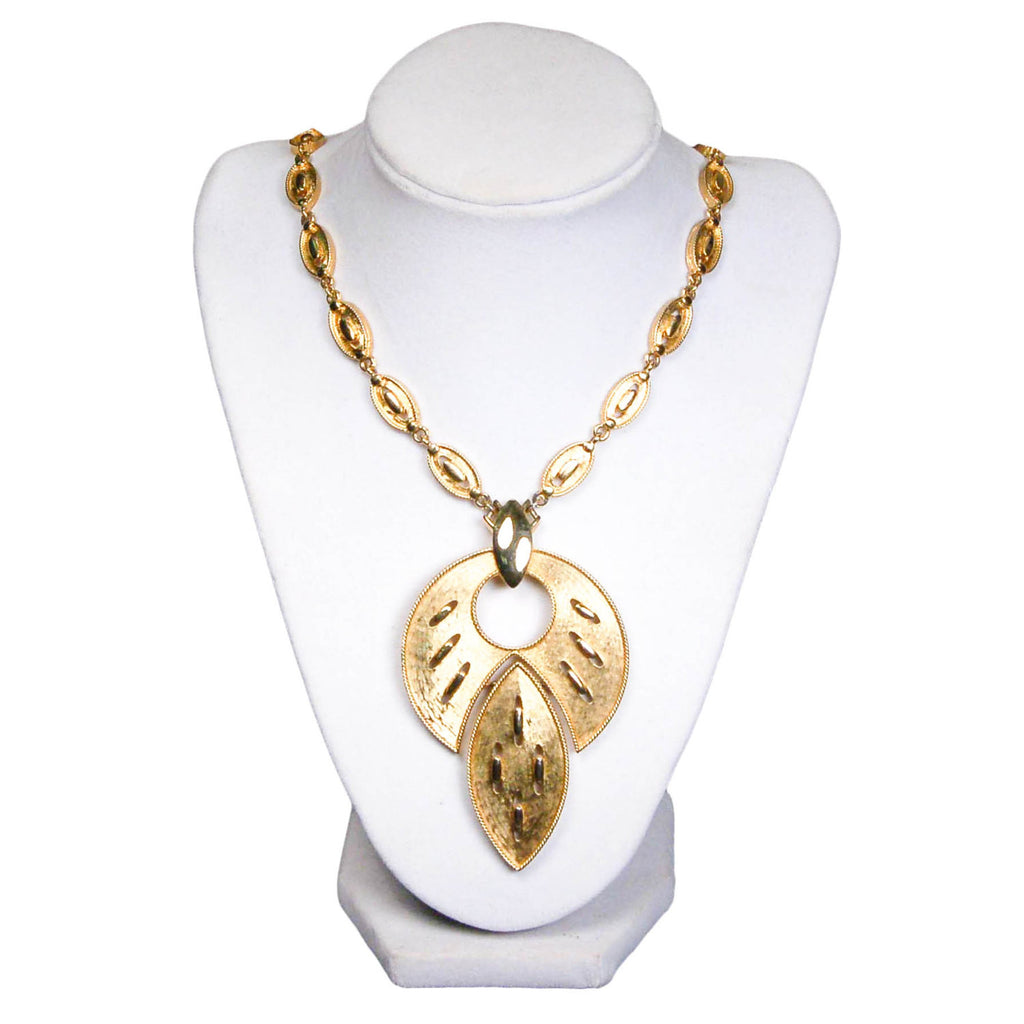 Lotus Leaf Statement Necklace - Vintage Meet Modern  - 2