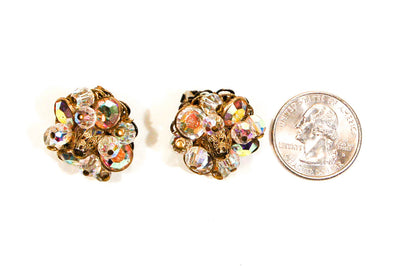 Crystal and Rhinestone Clip On Earrings by Alice Caviness by Alice Caviness - Vintage Meet Modern Vintage Jewelry - Chicago, Illinois - #oldhollywoodglamour #vintagemeetmodern #designervintage #jewelrybox #antiquejewelry #vintagejewelry