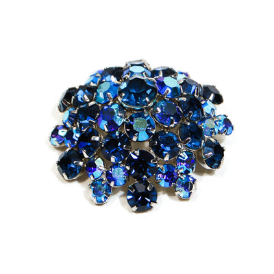 1950's Dome Aurora Borealis Rhinestone Brooch by 1950's - Vintage Meet Modern - Chicago, Illinois