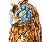 1950's Gold Tone Owl Brooch/Pendant, Brooches - Vintage Meet Modern