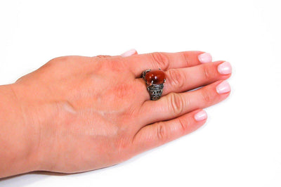 Carnelian and Marcasite Ring by Carnelian and Marcasite - Vintage Meet Modern - Chicago, Illinois