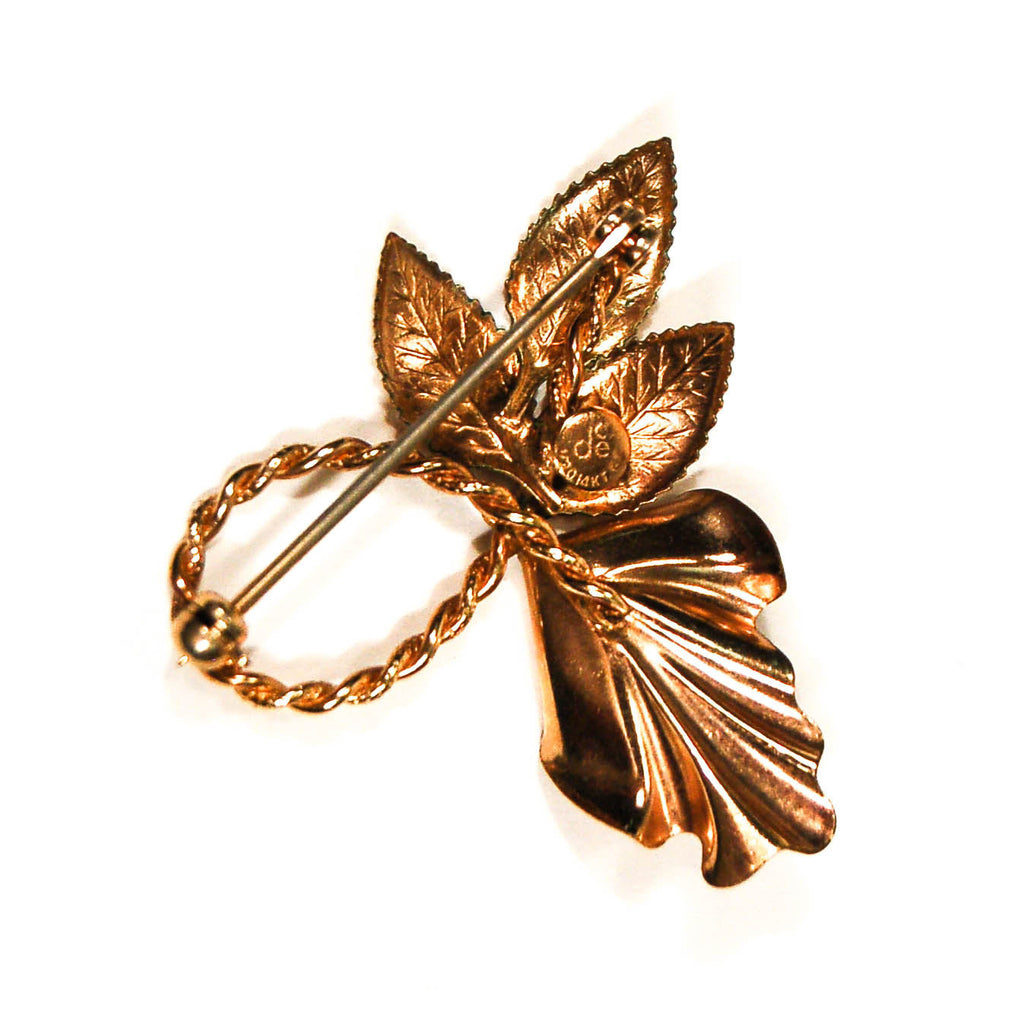 1940's Gold and Cultured Pearl Lily Brooch, Brooches - Vintage Meet Modern