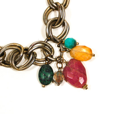 Chunky Charm Necklace with Semi Precious Stones by Rachel Reinhardt, Necklaces - Vintage Meet Modern
