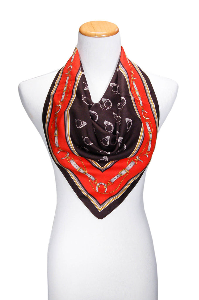 1980's Scarf with French Horn Design, Scarf - Vintage Meet Modern