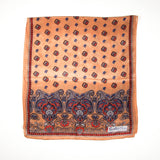 Earth Tone Paisley Silk Scarf by Sally Gee - Vintage Meet Modern  - 2