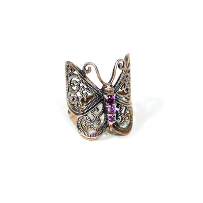 Sterling Silver Butterfly Ring by Sterling Silver - Vintage Meet Modern Vintage Jewelry - Chicago, Illinois - #oldhollywoodglamour #vintagemeetmodern #designervintage #jewelrybox #antiquejewelry #vintagejewelry