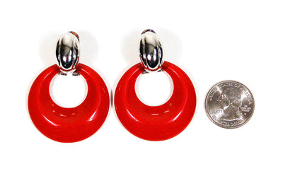 Interchangeable Colorful Hoop Earrings Set by Kenneth Jay Lane, Earrings - Vintage Meet Modern