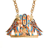 Accessocraft N.Y.C. Egyptian Winged Falcon Statement Necklace, Necklace - Vintage Meet Modern