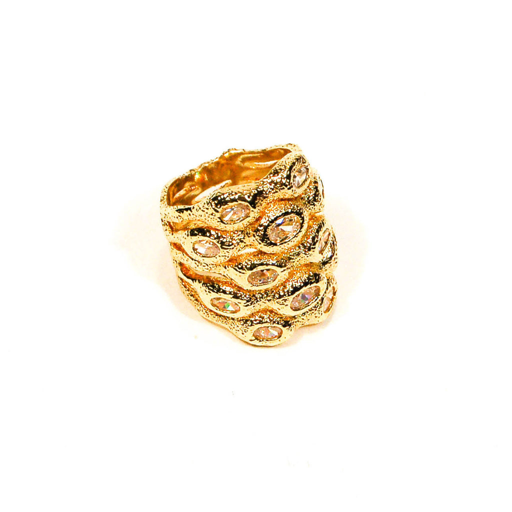 Bold Gold Stacking Ring by CN Designs, rings - Vintage Meet Modern