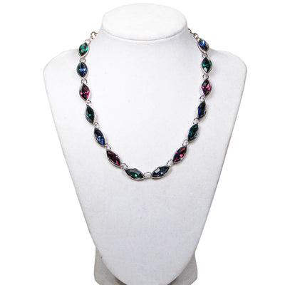 Jewel Tone Rhinestone Necklace by Yves Saint Laurent by YSL - Vintage Meet Modern Vintage Jewelry - Chicago, Illinois - #oldhollywoodglamour #vintagemeetmodern #designervintage #jewelrybox #antiquejewelry #vintagejewelry
