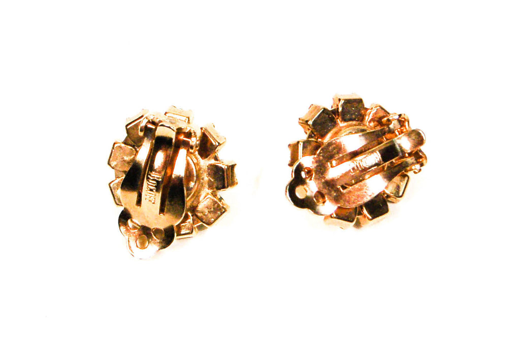 Smoke Rhinestone Earrings by Bogoff - Vintage Meet Modern  - 5