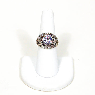 Sterling Silver Solitaire CZ Engagement Ring, rings - Vintage Meet Modern