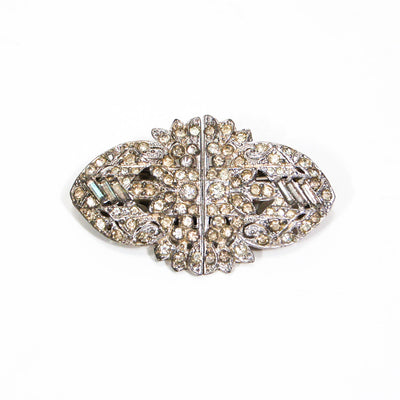 1930's Art Deco Duette Paste Rhinestone Brooch by 1930's - Vintage Meet Modern - Chicago, Illinois