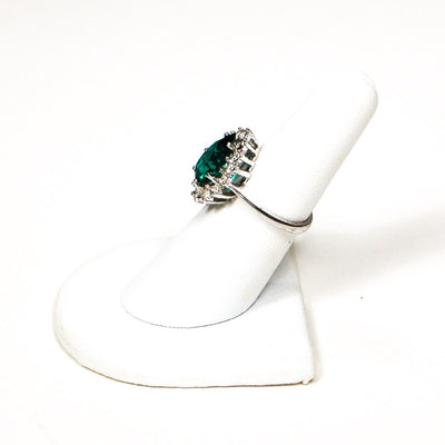 1980's Pear Shape Emerald CZ Cocktail Ring by 1980s - Vintage Meet Modern - Chicago, Illinois