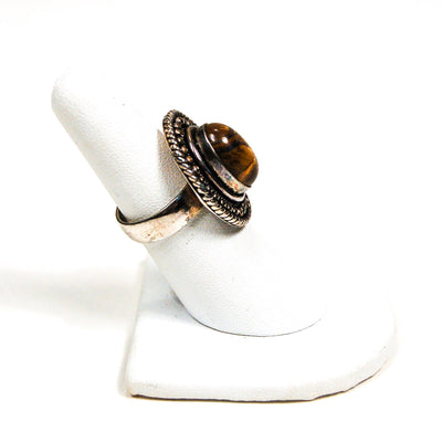 Boho Tigers Eye Sterling Silver Statement Ring by Sterling Silver - Vintage Meet Modern - Chicago, Illinois