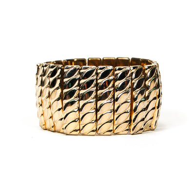 Mid Century Modern Gold Expansion Bracelet by Made in Japan - Vintage Meet Modern - Chicago, Illinois