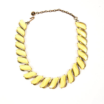 Yellow Wave Link Thermoset Necklace by Unsigned Beauty - Vintage Meet Modern Vintage Jewelry - Chicago, Illinois - #oldhollywoodglamour #vintagemeetmodern #designervintage #jewelrybox #antiquejewelry #vintagejewelry