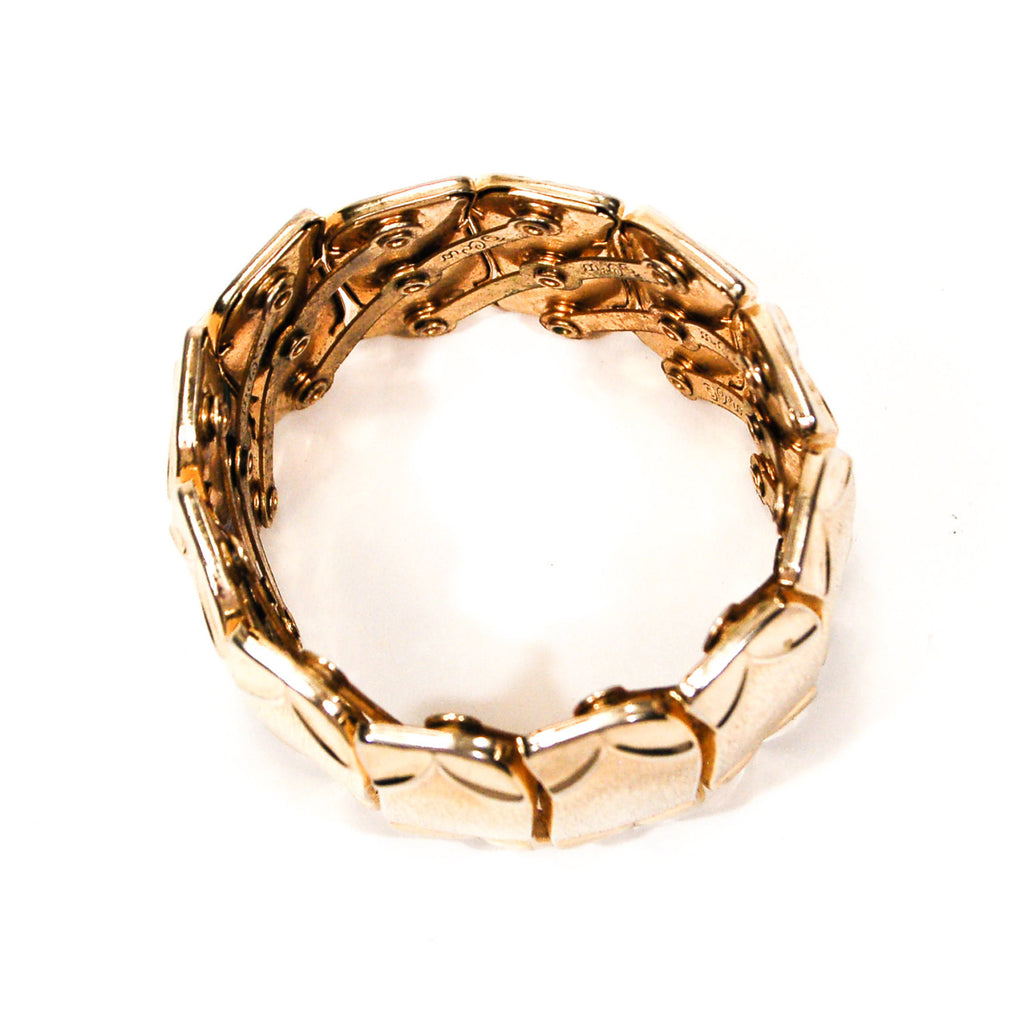 Gold Tone Expansion Bracelet by Coro - Vintage Meet Modern  - 3