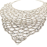 Sparkling Rhinestone Bib Statement Necklace - Vintage Meet Modern  - 5