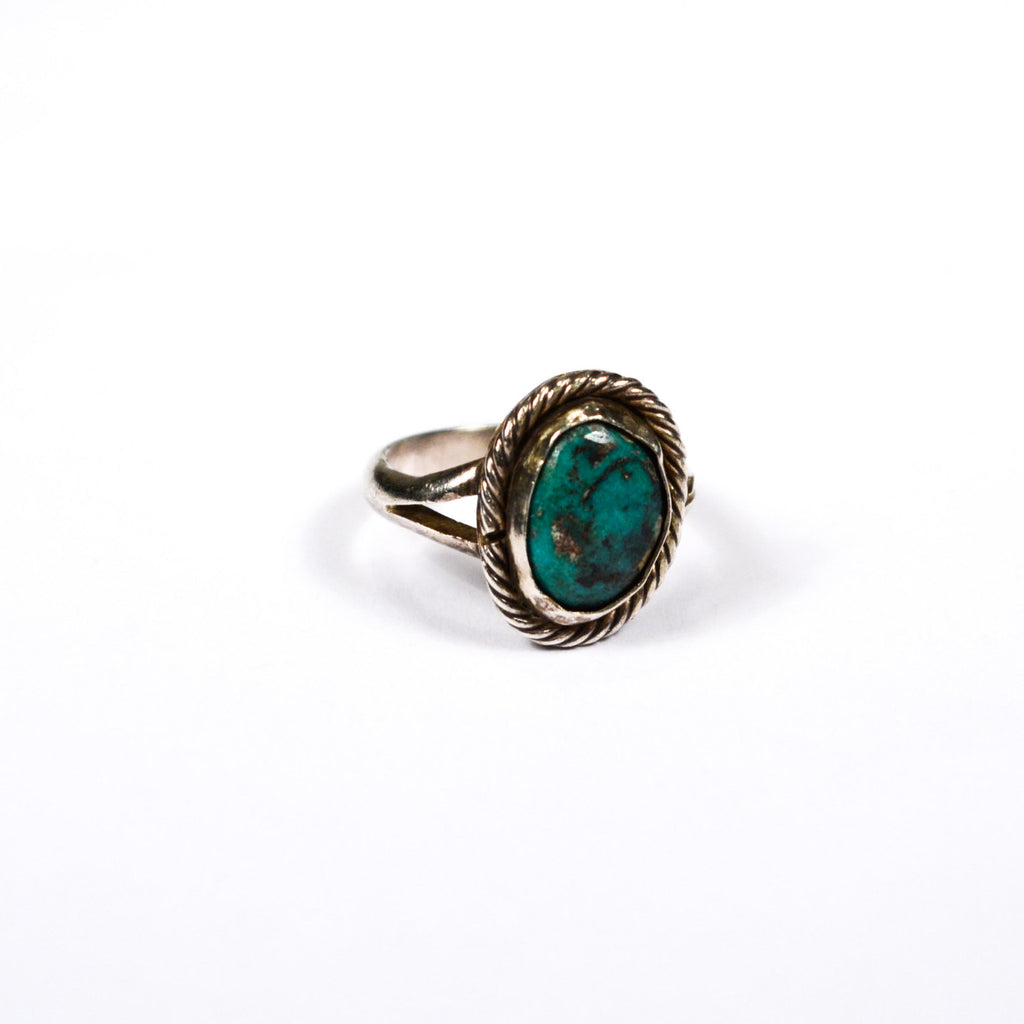 Native American Bohemian Chic Turquoise RIng - Vintage Meet Modern  - 1