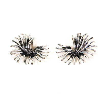 Marboux Silver Atomic Burst Earrings by Marboux - Vintage Meet Modern Vintage Jewelry - Chicago, Illinois - #oldhollywoodglamour #vintagemeetmodern #designervintage #jewelrybox #antiquejewelry #vintagejewelry